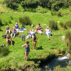 Bathing in a Dartmoor river